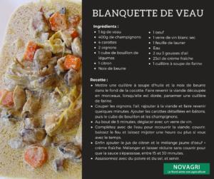 Recette Blanquette veau