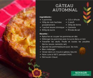 Recette Gateau automne