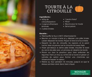 Recette Tourte citrouille